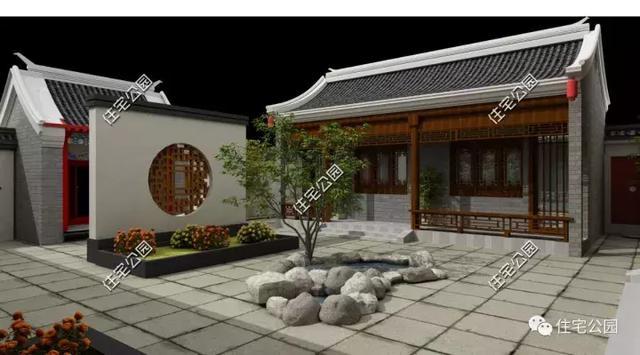 在西厢房,设计为厨房和餐厅,并且设有柴火房,符合农村的习惯.