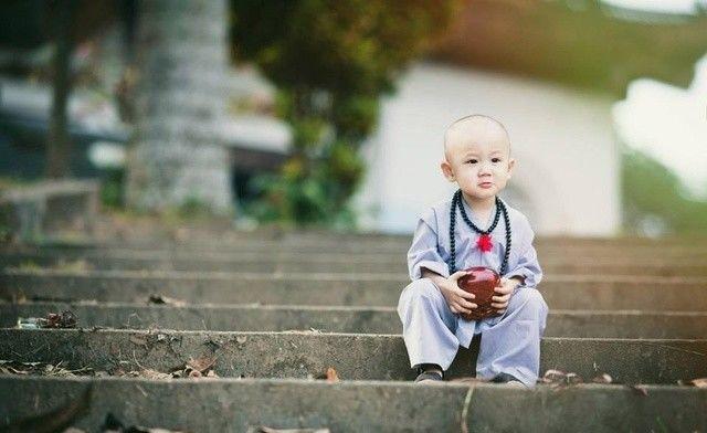越南寺庙发现最萌小和尚,常遭到女游客过分要求!