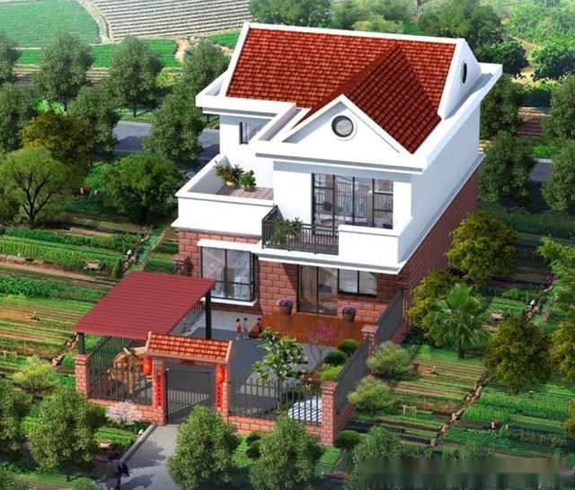這款一層小別墅建筑面積140平左右,有四間臥室,2個衛生間,廚房餐廳客