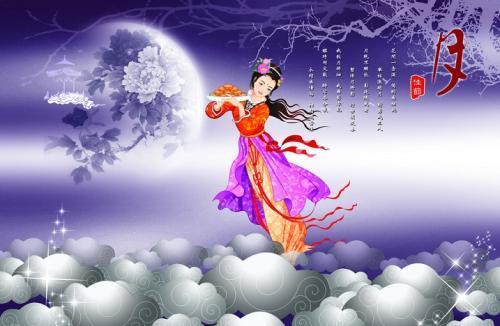 每年中秋节,就是一家人坐在一块儿一起吃个团圆饭,然后吃月饼赏月.