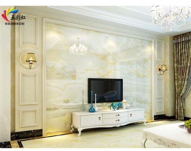 微晶石电视背景墙,石材护墙板,从容,恬淡,宁静!