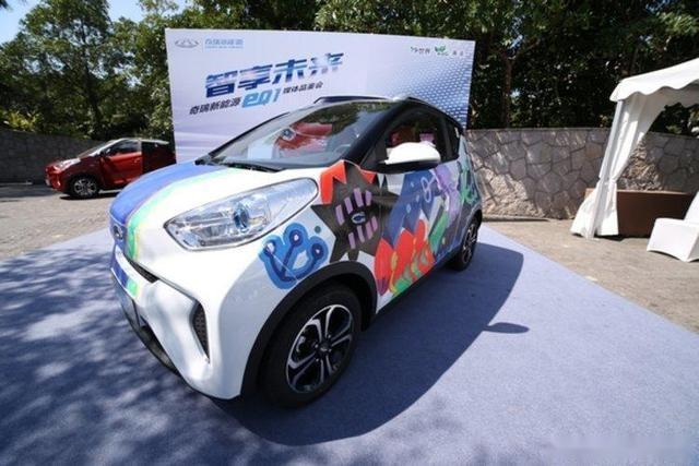 目前奇瑞新能源所推出的小蚂蚁eq1车型,产品定位时尚智能精品电动车