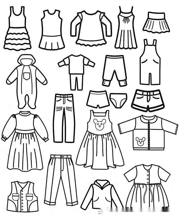 婴儿服装图片手绘