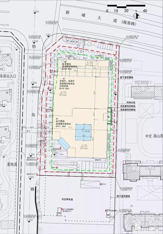 新城农副产品(批发)市场暨舟山市电子菜场项目,位于新城北部保亿风景