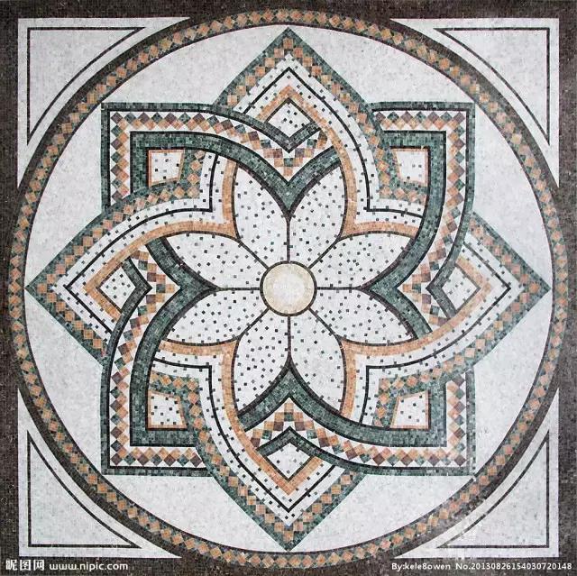 长方形拼花 小提示:拼花的图案,具象和抽象之分,非常丰富.