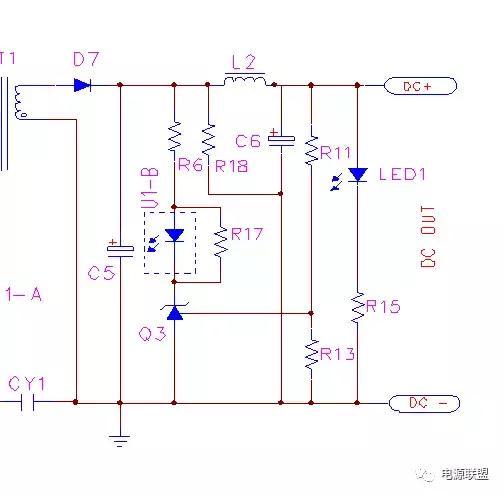 R13的取值,R13的值不是任意取的,要考虑两个因素:1)431参考输入端的电流,一般此电流为2uA左右,为了避免此端电流影响分压比和避免噪音的影响,一般取流过电阻R13的电流为参考段电流的100倍以上,所以此电阻要小于2.5V/200uA=12.5K. 2)待机功耗的要求,如有此要求,在满足12.