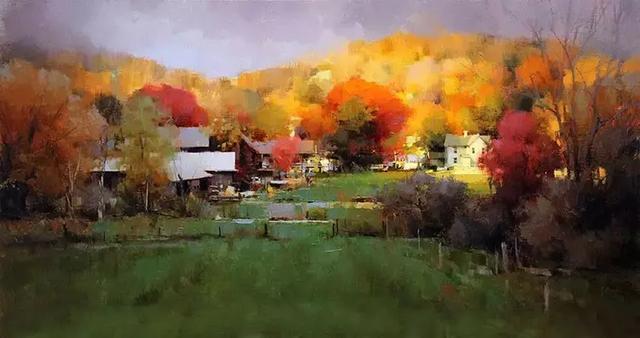 美国油画风景50幅,太美了!