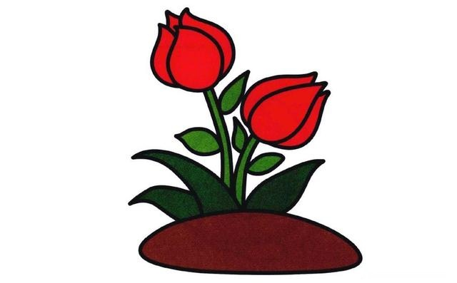 这几款花朵主题简笔画,家长老师请收好 助宝宝很快学会画花朵
