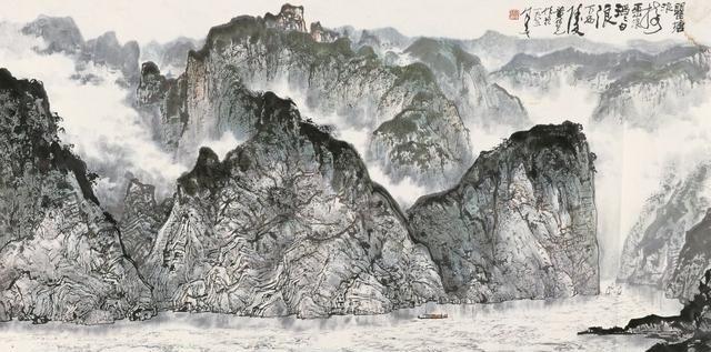 山水画大师黄纯尧笔下的三峡风光