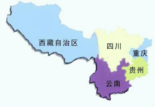 西南:四川,贵州,云南,重庆,西藏.