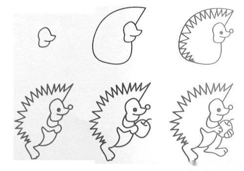 各种小动物,只需要6个步骤,就可以画出来.