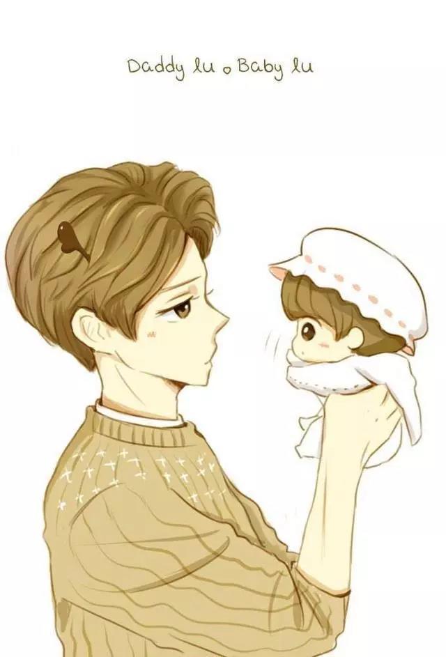 鹿晗漫画图片来袭,可爱的帅气的萌萌的漫画鹿!