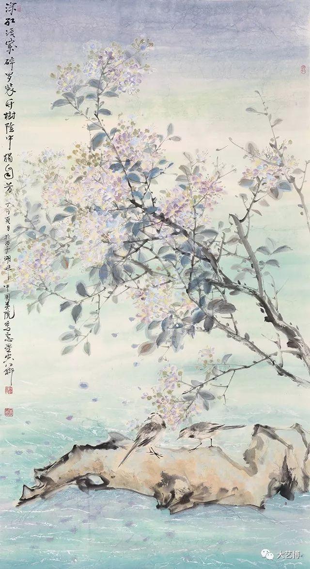 马得料 杨星空 满陇花雨 180×90cm 国画 纸本水墨 2017 中国美术