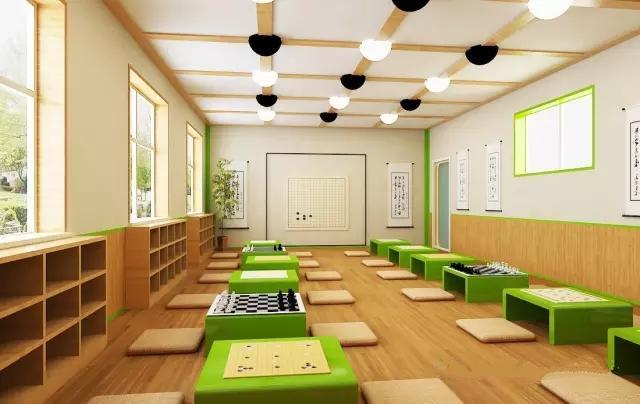 幼儿园特色教室设计之—国学馆设计,让孩子从小接受国学的熏陶
