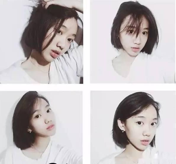 减了短发之后就变得清爽干练了,但总体还是有点女生的小可爱.