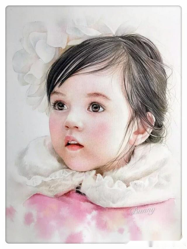 10分钟也许你就学会了,教你用彩铅画一个可爱的小女孩