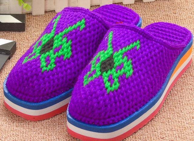 手工毛线拖鞋最经典织法及详细图解,宝妈们赶快亲手勾