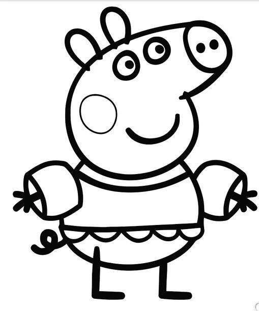 小猪佩奇简笔画教程2017 小猪佩奇简笔画步骤图简单又