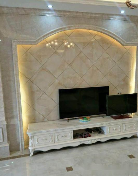 龙腾万都汇139平欧式风格装修案例,瓷砖上墙工艺真是