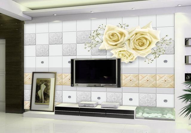 菱形米色瓷砖拼接背景墙 轻松打造欧式风格 只要您在背景墙这方面的