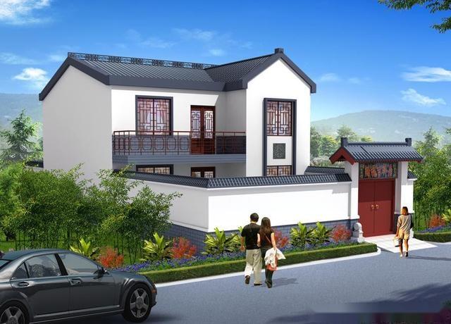适合农村宅基地的建房要求,每一款都带有一个100平左右的大院子,主体图片