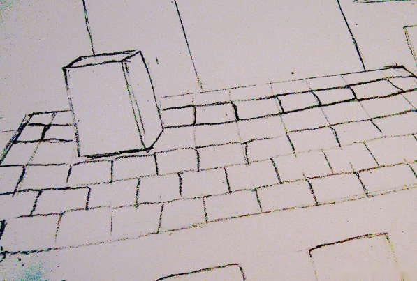 步骤9: 更详细                                建筑物上的砖,遮阳