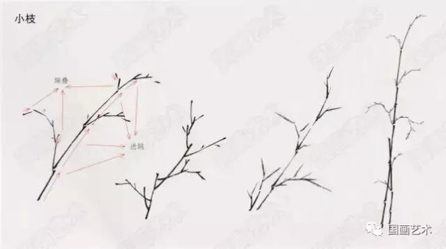 国画竹子写意画法图文教程 竹干竹枝竹叶写意画法步骤