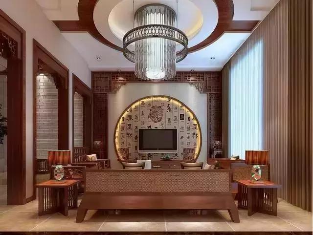傳統中式裝修風格,電視背景墻是家美的開始!