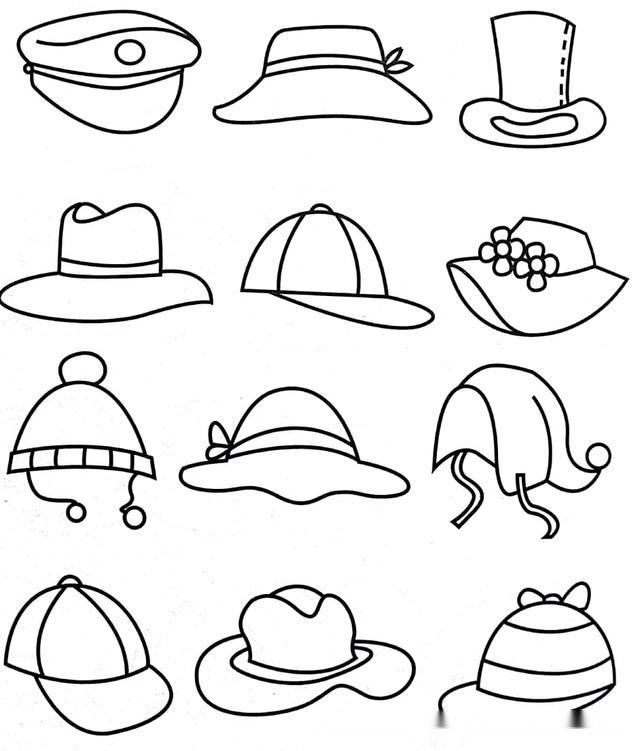 儿童简笔画-各类衣服帽子和鞋子,200多种呢!一起来画