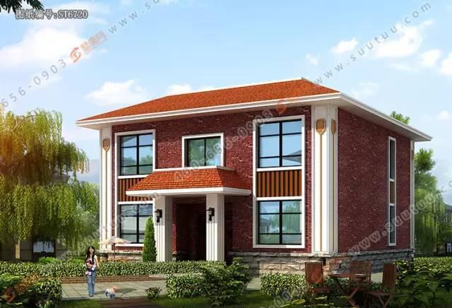 「墅圖網」新農村兩層小別墅,復式客廳獨棟設計