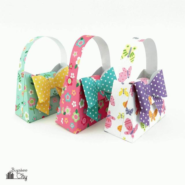 幼儿园手工之卡纸教程:给孩子做的蝴蝶结小包包,大家