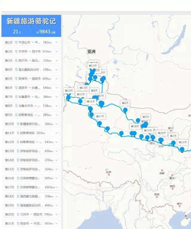 这对夫妇新疆自驾旅游,河南平顶山出发21天行程