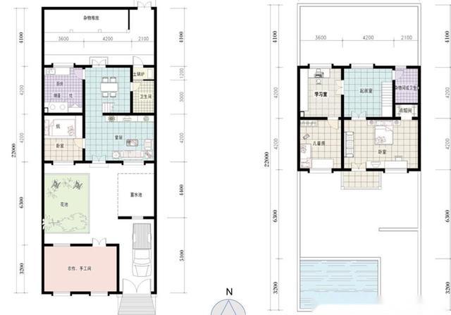 新农村中式自建房户型图纸,3层中式风格,17米x9米