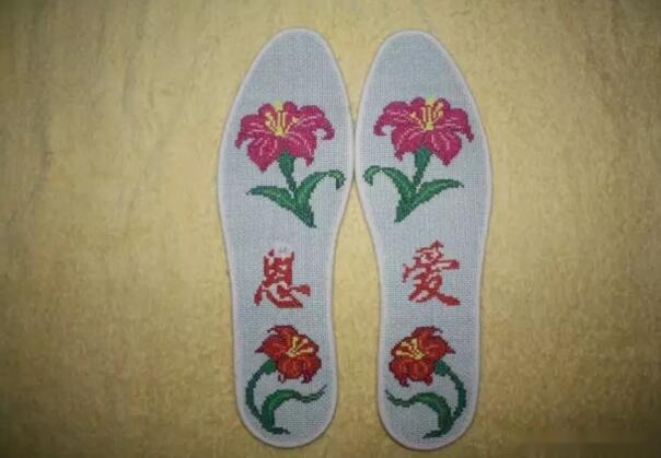 绣鞋垫的针法步骤图片