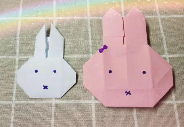 【手工】—深受小朋友喜爱的简单易学的折纸米菲兔,向