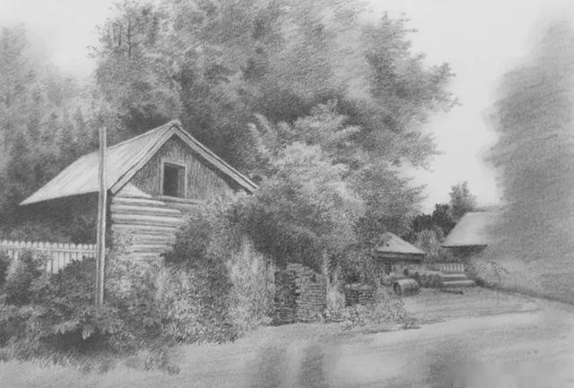 美术高考素描风景教程:完整步骤教你画素描风景