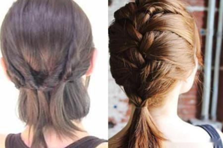中短发怎么扎好看 花苞头的教程图片