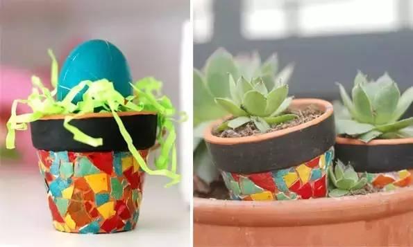 幼儿园亲子极速快三之废物利用:鸡蛋壳粘贴画,马赛克风格
