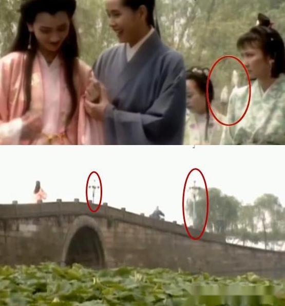 经典电视剧《新白娘子传奇》中白素贞和许仙断桥相会,断桥上的这两个