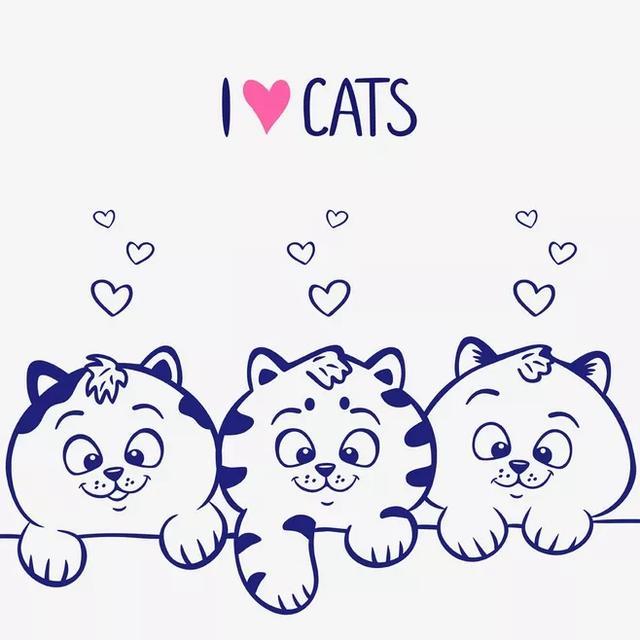 手账素材丨可爱的小猫咪怎么画?100只手绘猫咪大合集