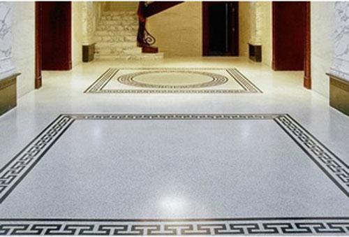 客厅装修用水磨石,比铺瓷砖和木地板更好看,更实用