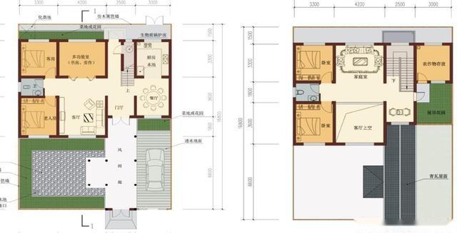 10款中式农村自建房图纸,小户型大庭院,20万主体100年