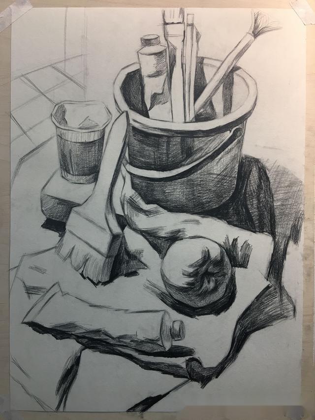 学美术,怎么能少了素描静物步骤稿