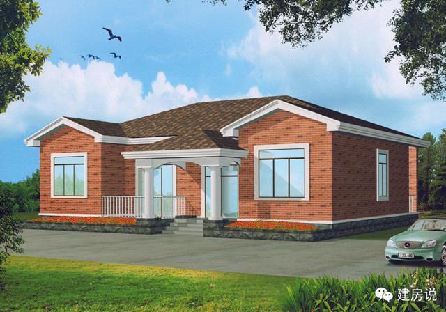 5款农村一层别墅设计图,北方人建房子的福音