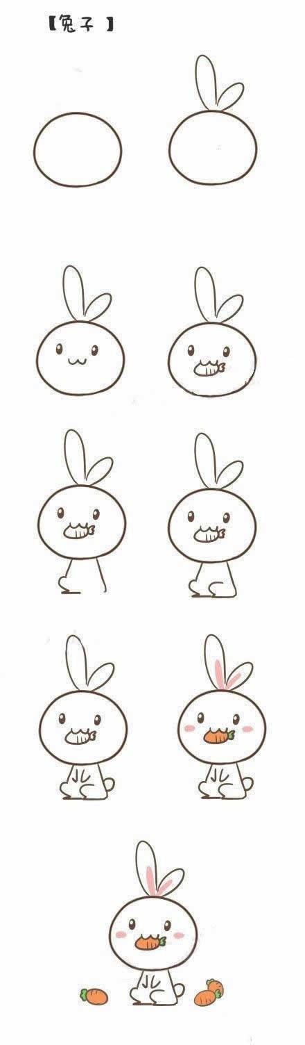 用最快的时间,最简单的方法画出生动可爱的简笔画和