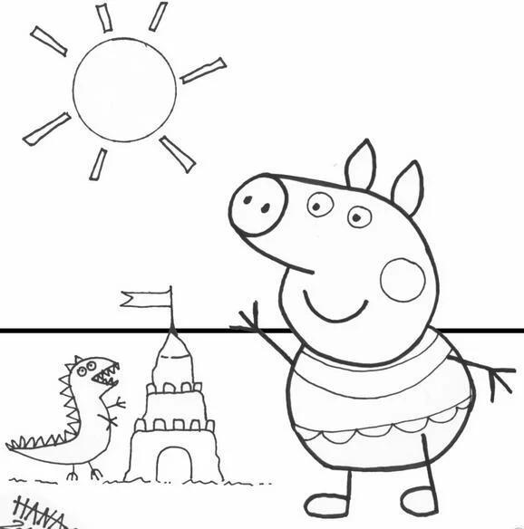 宝宝最爱小猪佩奇简笔画,妈妈们快快为宝宝收藏起来吧