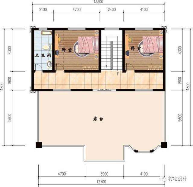 7x11米农村两层设计图