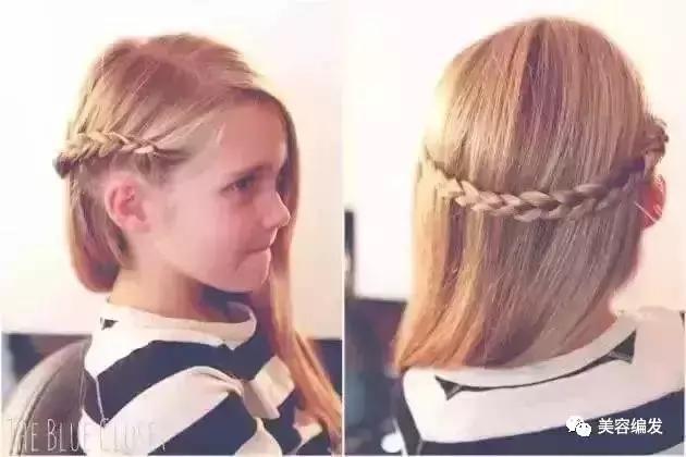 小女孩发型绑扎方法,夏季儿童编发教程!