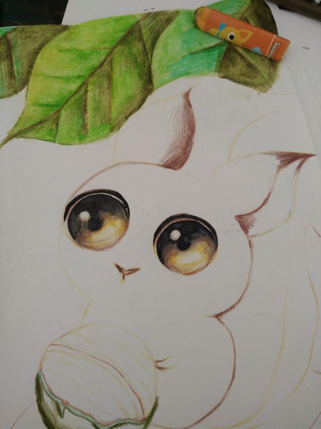 这么萌萌哒的小松鼠谁不喜欢?松鼠彩铅绘画教程奉上