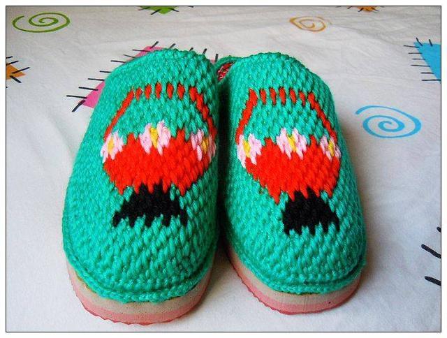 毛线拖鞋编织最详细的图解来了,姐妹们动手造起来!